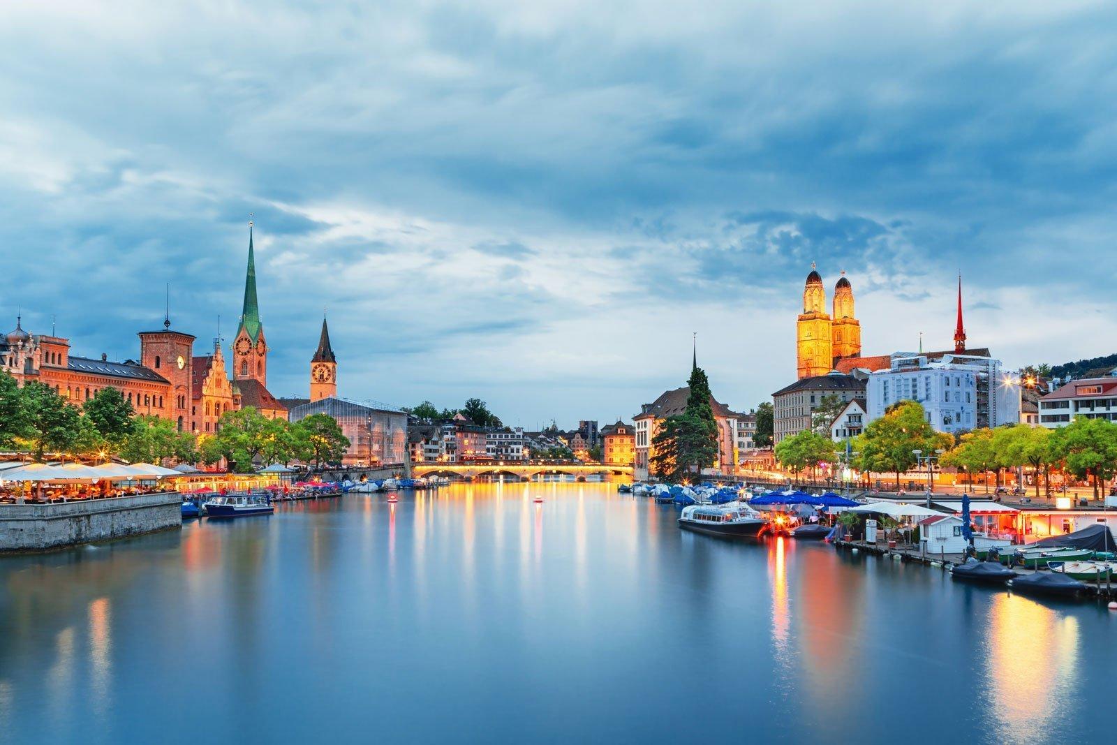 Zürih şehir Fotoğrafı